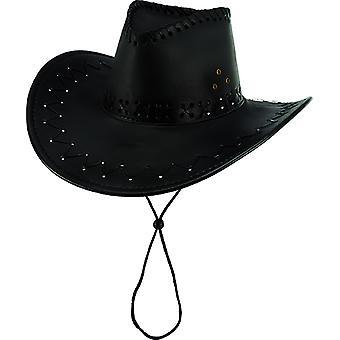 Cowboy hat suede look black accessories Hat Wild West Carnival
