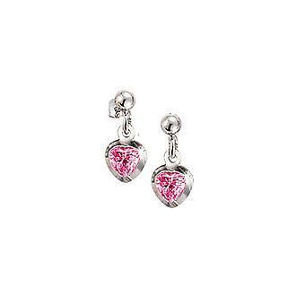 Scout Children earrings pierced earrings silver heart pink girl 262147100