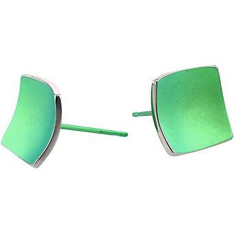 TI2 titanio Piazza a cupola orecchini - verde fresco