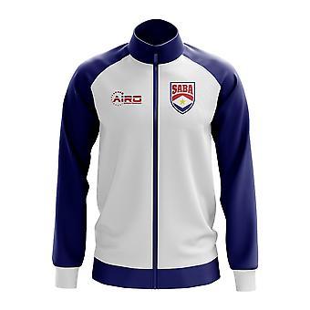Saba käsite jalkapallo Track Jacket (valkoinen)