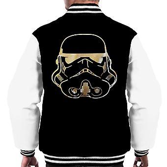 Original Stormtrooper Helmet Gold Foil Men's Varsity Jacket