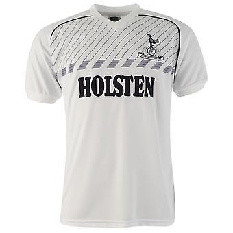 Score Draw Mens Tottenham Hotspur 1986 Home Jersey Retro Shirt Short Sleeve V