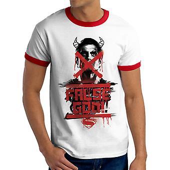 Batman V Superman - falsk Gud T-Shirt (Unisex Ringer)