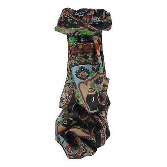 Amoreira cachecol longo tradicional Kir preto por Pashmina & seda