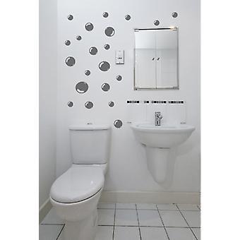 مجموعة من ملصقات الحائط بلاط حمام فقاعات 42