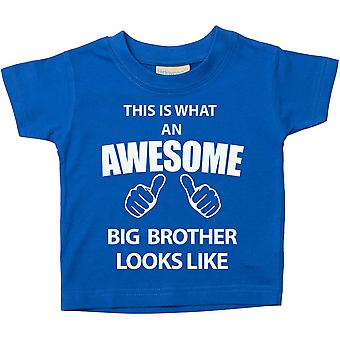 This is What An Awesome Big Brother Looks Like Blue Tshirt