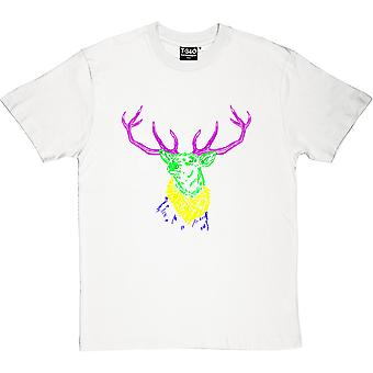 Psychedelic Deer Variant Two White Men's T-Shirt