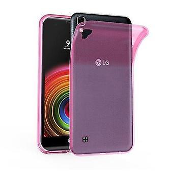 Cadorabo Hülle für LG X POWER Case Cover - Handyhülle aus flexiblem TPU Silikon – Silikonhülle Schutzhülle Ultra Slim Soft Back Cover Case Bumper
