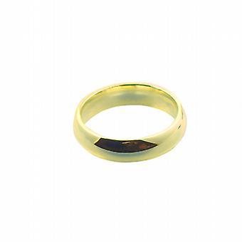 9ct Gold 6mm sima bíróság Karikagyűrű méret Z