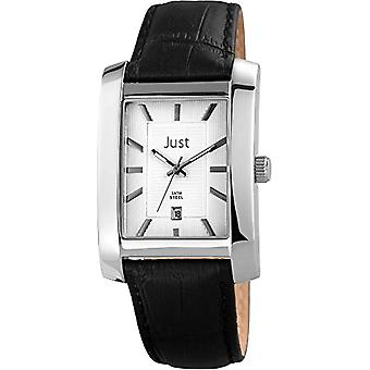 Just Watches 48-S6355SL-BK-mens wristwatch, black leather strap