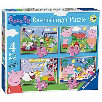 Puzzle Ravensburger Peppa Pig 4 in una scatola (12, 16, 20, 24pc)
