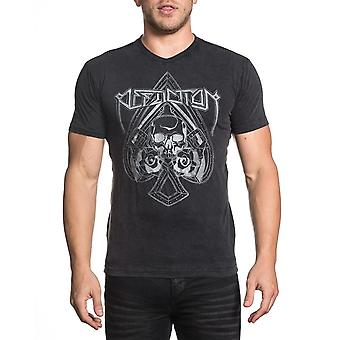 Affliction Hollow-Point-Stich kurzen Ärmeln T-Shirt