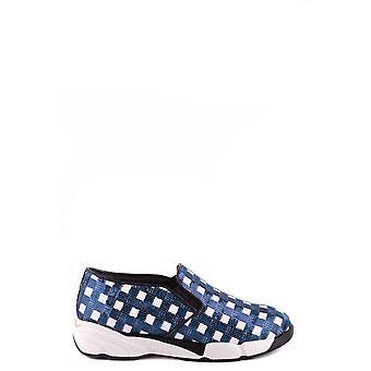 Pinko Ezbc056082 Women's Blue Fabric Slip On Sneakers