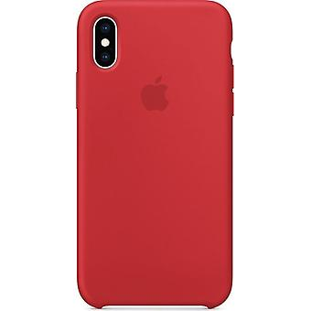 Original ambalate MRWC2ZM / A Apple silicon microfiber cover carcasă pentru iPhone XS - Rosu