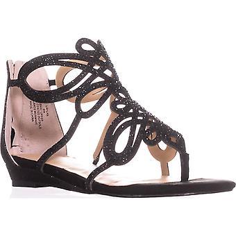 TS35 Claudia Flat Thong sandálias, preto