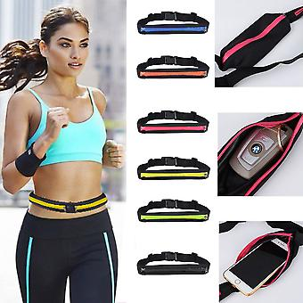 Svart Sports Belt Jogging, Reise, Trening.