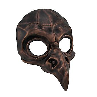 Metallic Crow Skull Half Face Steampunk Bird Costume Mask