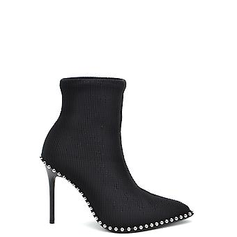 Alexander Wang Ezbc028025 Women's Black Fabric Ankle Boots