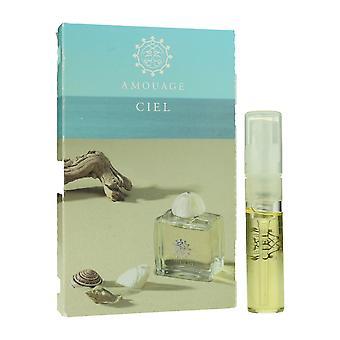 Amouage & apos;Ciel' Eau De Parfum Spray للمرأة 0.05oz بطاقة قارورة (OriginalFormula)