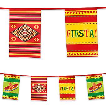 10m Plastic Bunting Mexican Fiesta Party Decoration