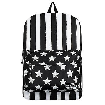RockSax Black & White Stars And Stripes Backpack