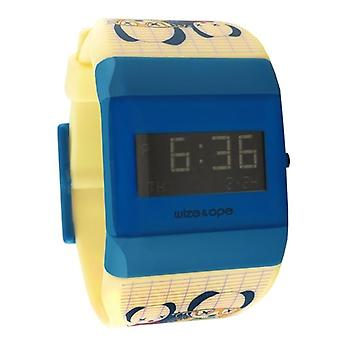 Wize i Ope Low-Rider Cream i Blue Digital Watch WO-LR-3