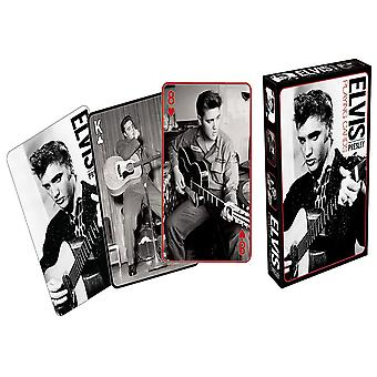 Elvis Black and White Playing Cards