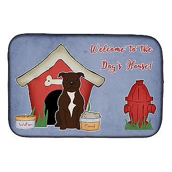 Dog House Collection Staffordshire Bull Terrier Chocolate Dish Drying Mat