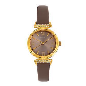 Bertha jasmijn leer-Band Watch-grijs