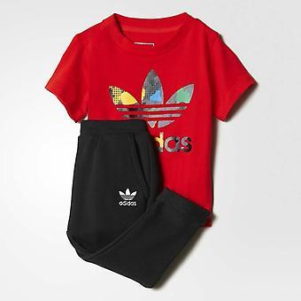 Adidas Originals YWF niemowlę załogi pełnego dres AY8561