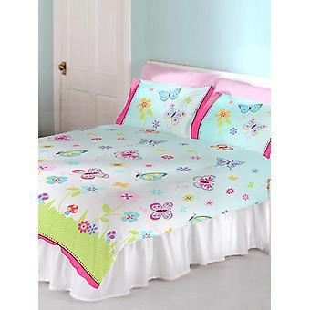 Butterfly Garden Double Duvet Cover and Pillowcase Set