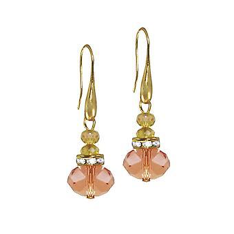 Eternal Collection Toscana Peach Crystal kullan sävy Drop lävistetyt korva korut