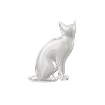 بروش القط الفضي بنغمة فضية من المجموعة الخالدة