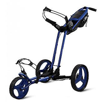 Sun Mountain Pathfinder 3 Wheel Push Golf Trolley Cart Big Sky Blue
