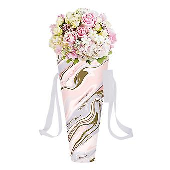 Eurowrap Marble Flower Holder Gift Bag