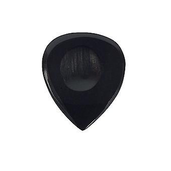 Pickboy Guitar Picks/Plectrums - Exotic Horn Hand Made - Noir 2mm