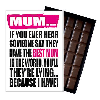 Funny Mother's Day Gift Boxed Chocolate Present Rude Greeting Card For Mom Mum Mumy MIYF132