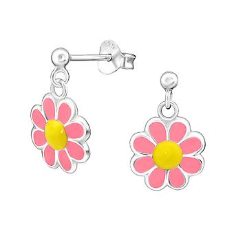 Flower - 925 Sterling Silver Colourful Ear Studs - W15662x