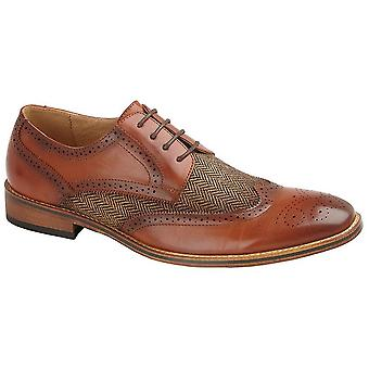 Goor Childrens/Boys Leather Lined 4 Eye Brogue Gibson Shoe