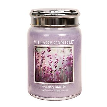 Village Candle Premium 26oz Scented Candle Jar Rosemary Lavender Double Wick