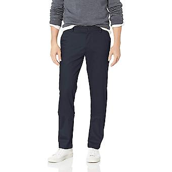 Dockers Men's Slim Tapered Signature Khaki Lux Cotton, Navy, Size 36W x 34L