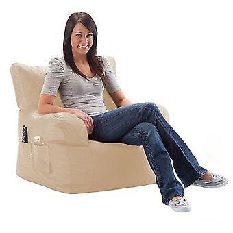 Klaar Steady Bed Water Bestendig grote zitzak ontspannenstoel met bijpassende voetenbank, Steen