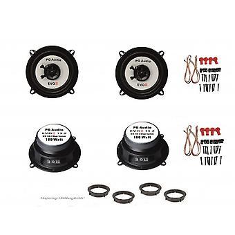 13cm Coax,2-Wege-Koax,Mazda 2, Lautsprecher Tür Vorne & Hinten,inkl. Adapterring