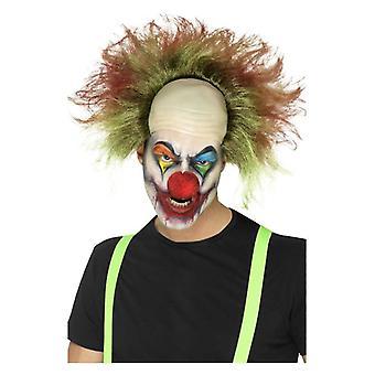 Mens sinistere Clown pruik Halloween Fancy Dress accessoire
