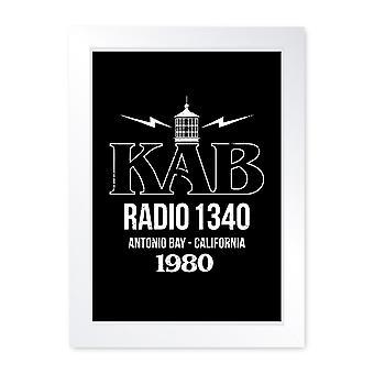 KAB Radio Antonio Bay Movie Inspired, Quality Framed Print - Wall Art