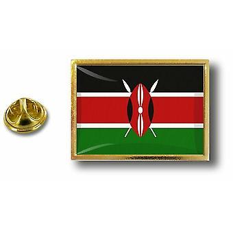 Pins Pin Badge Pin's Metal  Avec Pince Papillon Drapeau Kenya Kenyan