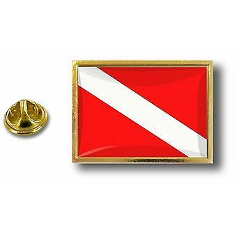 Kiefer Pines Abzeichen Pin-Apos;s Metall mit Schmetterling Pinch Flagge Tauchen Taucher