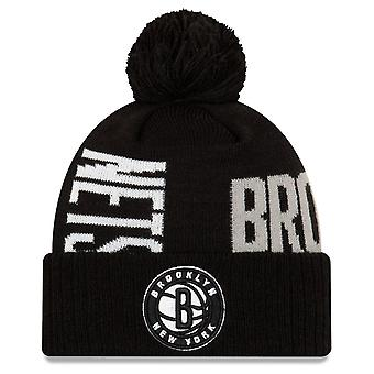 New Era Bobble Winter Mütze - NBA TIP OFF Brooklyn Nets