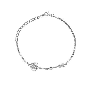 Heta diamanter Sterling Silver Cupid armband DL597