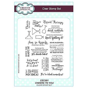 Creative Expressions Clear Stamps Cheers to You, 15.2 x 21.6 x 0.5 cm